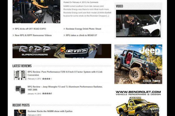 Rockstar Garage Website